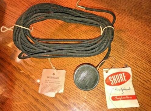 1940s shure 76b lapel mic